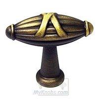RK International - Antique English - Large Crossed Indian Drum Knob in Antique English