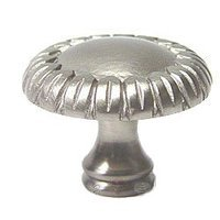 RK International - Satin Nickel - Large Petals at Edge Knob in Satin Nickel