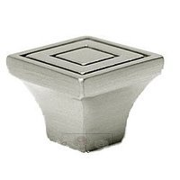 RK International - Satin Nickel - Large Contemporary Square Knob in Satin Nickel