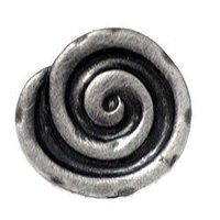 RK International - Distressed Nickel - Swirl Knob in Distressed Nickel
