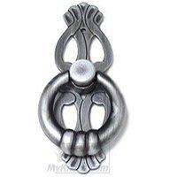RK International - Distressed Nickel - Ring with Ornate Backplate in Distressed Nickel