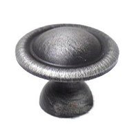 "RK International - Distressed Nickel - 1 1/4"" Smooth Dome Knob in Distressed Nickel"
