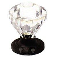 RK International - Acrylic and Glass - Acrylic Diamond Cut Knob in Oil Rubbed Bronze