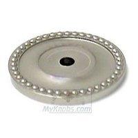 RK International - Satin Nickel - Beaded Single Hole Backplate in Satin Nickel