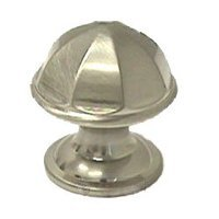 RK International - Satin Nickel - Contoured Dome Knob in Satin Nickel