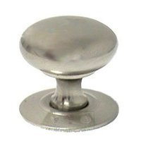 "RK International - Satin Nickel - 1 1/4"" Plain Hollow Knob with Backplate in Satin NIckel"