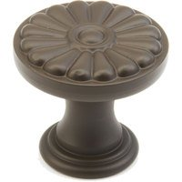 "Schaub and Company - Montcalm - 1 3/8"" Round Flower Knob in Oil Rubbed Bronze"