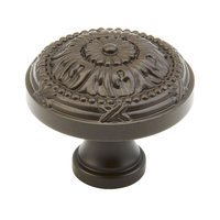 "Schaub and Company - Versailles - Solid Brass Oil Rubbed Bronze Round 1 1/2"" (38mm) Knob"