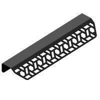 "Schwinn Hardware - Edge Pulls - 2 9/16"" Long Woven Cane Pattern Edge Pull in Matte Black"