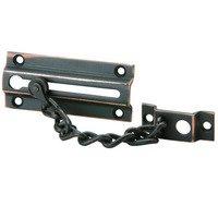 Schlage Door Hardware - Ives Door Bolts - Steel Chain Door Guard in Aged Bronze