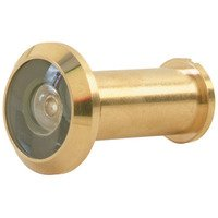 Schlage Door Hardware - Ives Door Accessories - Solid Brass 190° Peephole Viewer in Bright Brass