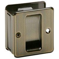 Schlage Door Hardware - Ives Pocket Door Hardware - Aluminum Passage Pocket Door Lock in Antique Brass
