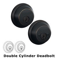 Schlage Door Hardware - Deadbolts - B62 Series - Double Deadbolt in Aged Bronze