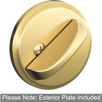 Schlage Door Hardware - Deadbolts - B81 Series - One Sided Deadbolt with Exterior Trim in Lifetime Bright Brass