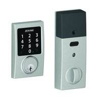 Schlage Door Hardware - Electronic Door Lock - BE Series - Century Connected Touchscreen Electronic Deadbolt in Satin Chrome