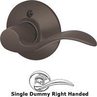 Schlage Door Hardware - Accent Door Levers - F170 Series - Right Handed Single Dummy Accent Door Lever in Oil Rubbed Bronze