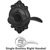 Schlage Door Hardware - Brookshire - F170 Series - Right Handed Single Dummy Accent Door Lever with Brookshire Rose in Matte Black