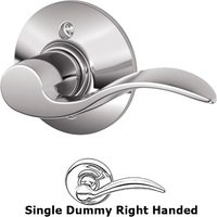 Schlage Door Hardware - Accent Door Levers - F170 Series - Right Handed Single Dummy Accent Door Lever in Bright Chrome