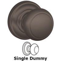 Schlage Door Hardware - Andover - F170 Series - Single Dummy Andover Door Knob with Andover Rose in Oil Rubbed Bronze