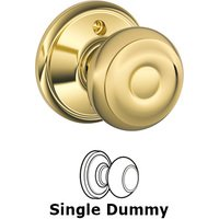 Schlage Door Hardware - Georgian Door Knobs - F170 Series - Single Dummy Georgian Door Knob in Bright Brass