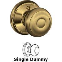 Schlage Door Hardware - Georgian Door Knobs - F170 Series - Single Dummy Georgian Door Knob in Antique Brass