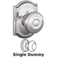 Schlage Door Hardware - Camelot - F170 Series - Single Dummy Georgian Door Knob with Camelot Rose in Bright Chrome