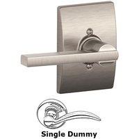 Schlage Door Hardware - Century - F170 Series - Single Dummy Latitude Door Lever with Century Rose in Satin Nickel