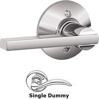 Schlage Door Hardware - Latitude Door Levers - F170 Series - Single Dummy Latitude Door Lever in Bright Chrome