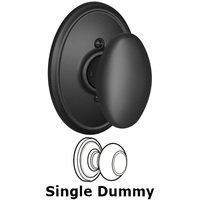 Schlage Door Hardware - Wakefield - F170 Series - Single Dummy Siena Door Knob with Wakefield Rose in Matte Black