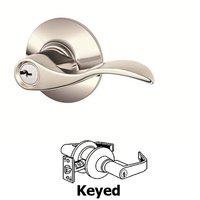 Schlage Door Hardware - Accent Door Levers - F Series - Accent Keyed Door Lever in Bright Nickel