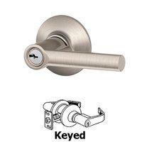 Schlage Door Hardware - Broadway - F Series - Broadway Keyed Door Lever in Satin Nickel