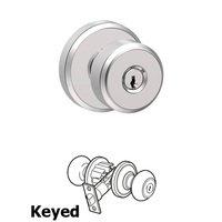 Schlage Door Hardware - Greyson - F Series - Bowery With Greyson Rose Keyed Door Knob in Bright Chrome