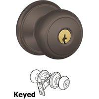 Schlage Door Hardware - Andover Door Knobs - F51A Series - Keyed Andover Door Knob in Oil Rubbed Bronze