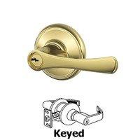 Schlage Door Hardware - Avila - F Series - Avila Keyed Door Lever in Bright Brass