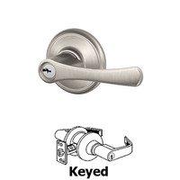Schlage Door Hardware - Avila - F Series - Avila Keyed Door Lever in Satin Nickel