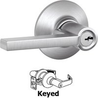 Schlage Door Hardware - Latitude Door Levers - F51A Series - Keyed Latitude Door Lever in Satin Chrome