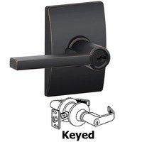 Schlage Door Hardware - Century - F51A Series - Keyed Latitude Door Lever with Century Rose in Aged Bronze