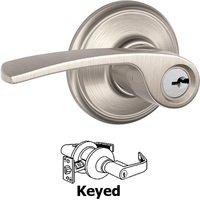 Schlage Door Hardware - Merano Door Levers - F51A Series - Keyed Merano Door Lever in Satin Nickel