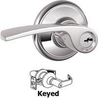 Schlage Door Hardware - Merano Door Levers - F51A Series - Keyed Merano Door Lever in Bright Chrome