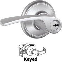 Schlage Door Hardware - Merano Door Levers - F51A Series - Keyed Merano Door Lever in Satin Chrome