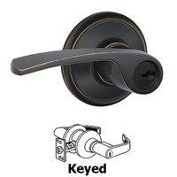 Schlage Door Hardware - Merano Door Levers - F51A Series - Keyed Merano Door Lever in Aged Bronze