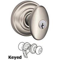 Schlage Door Hardware - Andover - F51A Series - Keyed Siena Door Knob with Andover Rose in Satin Nickel