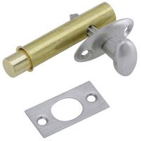 Schlage Door Hardware - Ives Door Bolts - Solid Brass Mortise Bolt in Satin Nickel