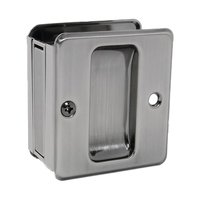 Schlage Door Hardware - Ives Pocket Door Hardware - Passage Pocket Door Lock in Antique Nickel