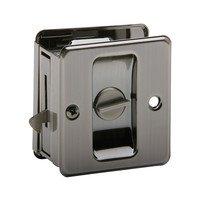Schlage Door Hardware - Ives Pocket Door Hardware - Privacy Pocket Door Lock in Antique Nickel