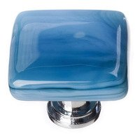 Sietto Glass Hardware - Cirrus - Marine Blue Knob with Oil Rubbed Bronze base