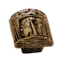 Siro Designs - Impala - Egyptian Mural Knob in Antique Brass
