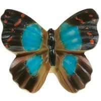 Siro Designs - Butterfly - Brown Blue Red Butterfly Knob
