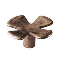 Siro Designs - Big Bang - Cross Knob in Antique Copper