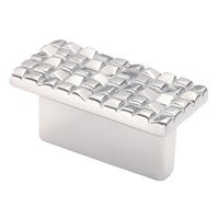 "Siro Designs - Mosaic - Rectangular Pull 1 1/4"" (32mm) Centers in Matte Chrome"